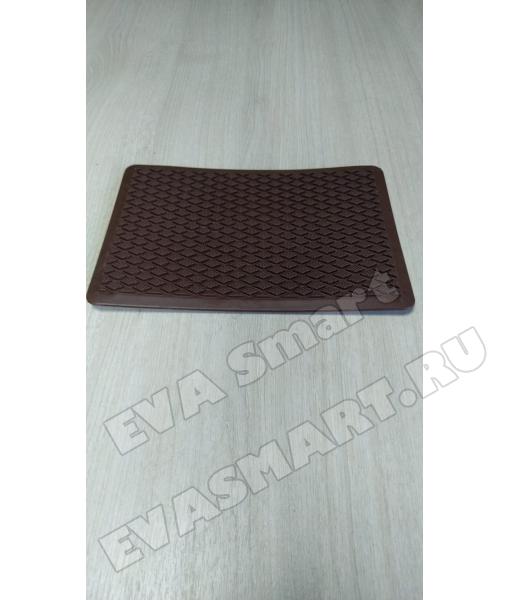 Подпятник полимерный (ТЭП) коричневый - ромб