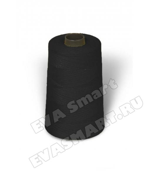 Нитки швейные цвет черный (70ЛЛ)
