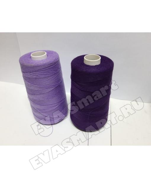 Нитки швейные цвет фиолетовый (70ЛЛ)