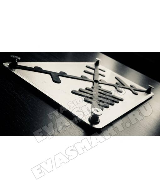 Подпятник алюминиевый с покрытием 15*22