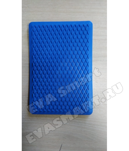 Подпятник полимерный (ТЭП) синий - ромб