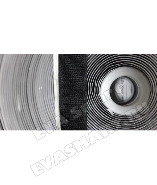Контактная лента Велькро клеевая 25мм (2 части)